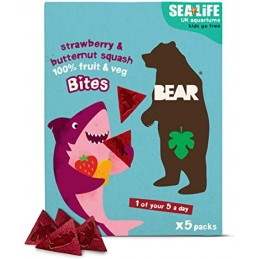 Bonbons bouchées de fraise & Butternut - Bear Nibbles