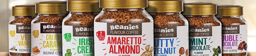 Presentation de Beanies Favour café soluble instantané aromatisé